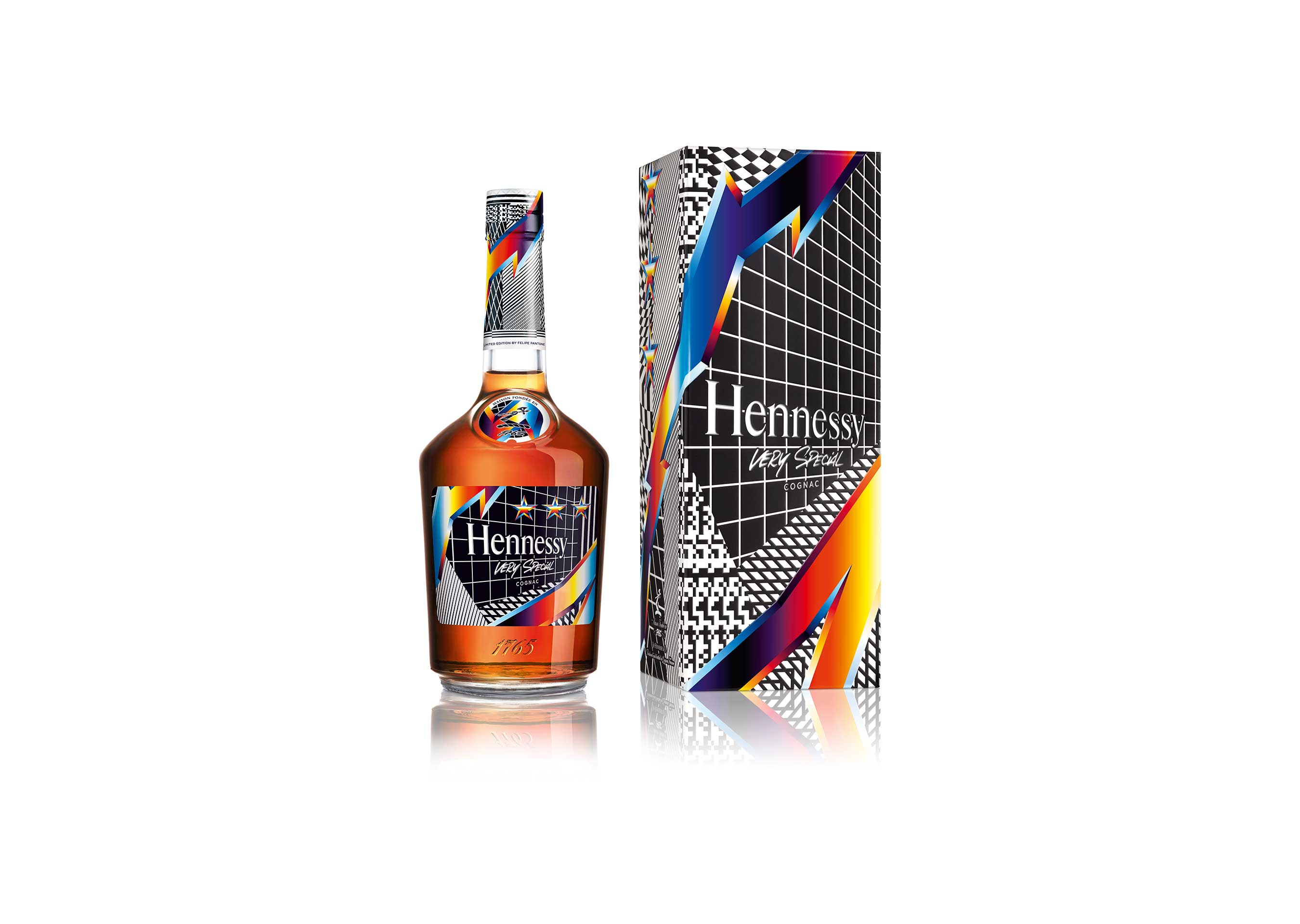 Felipe Pantone's artwork is an apt metaphor for Hennessy's ability to capture momentum through the centuries.