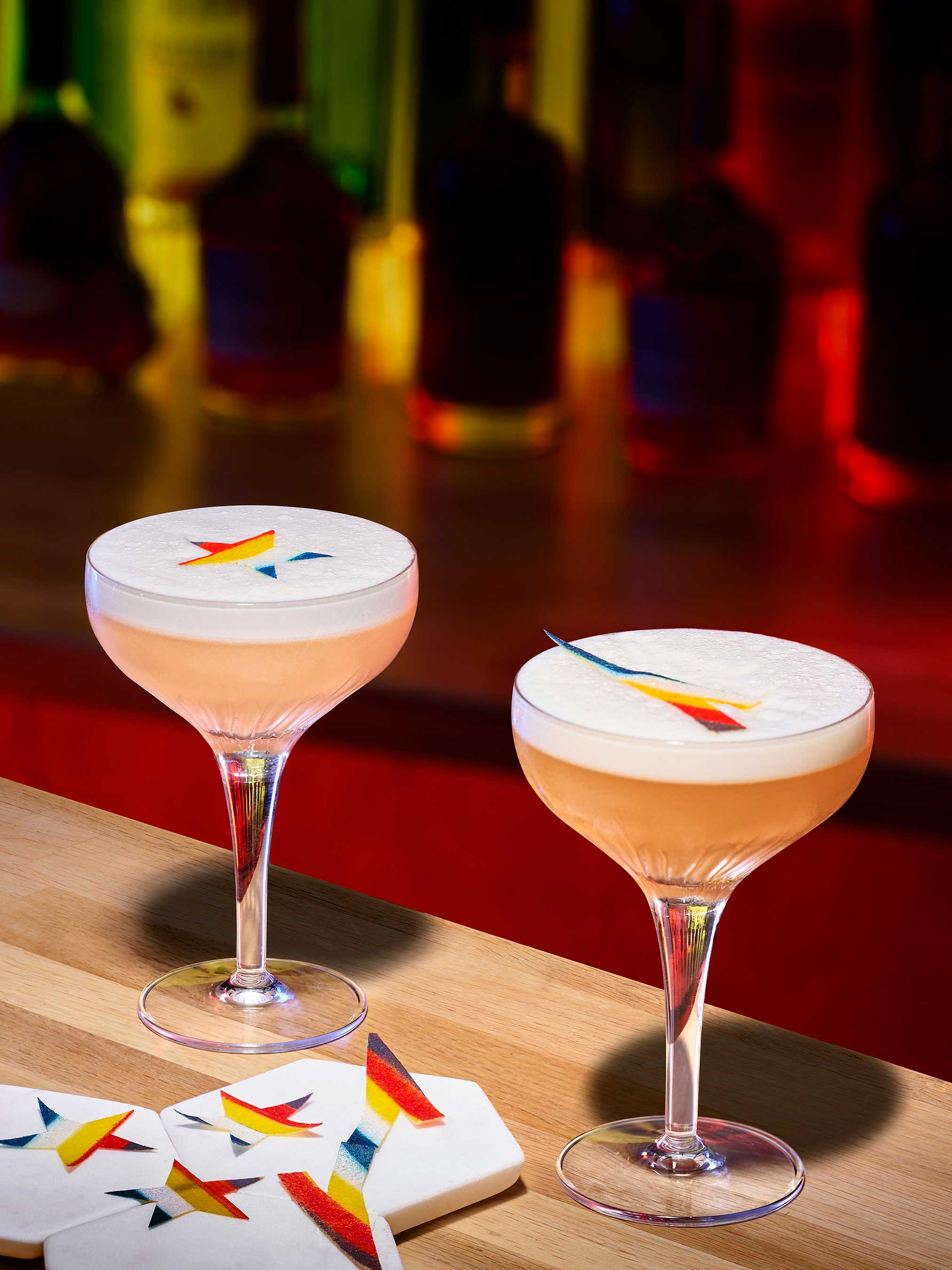 The Ginger Sour and Apricot Sour are both crafted with Hennessy V.S