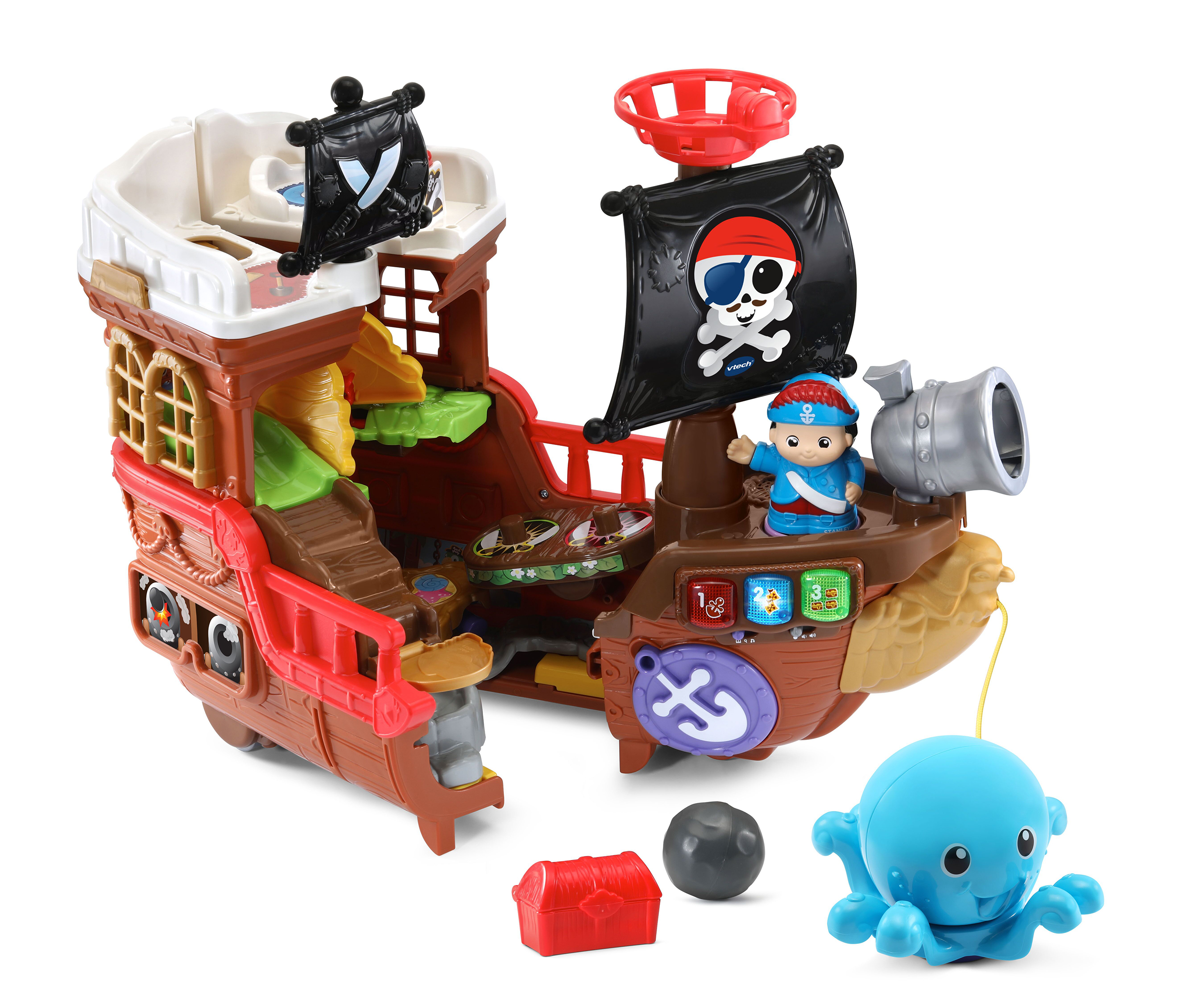 VTech® announces the availability of new infant, toddler and preschool toys, including the Treasure Seekers Pirate Ship™.