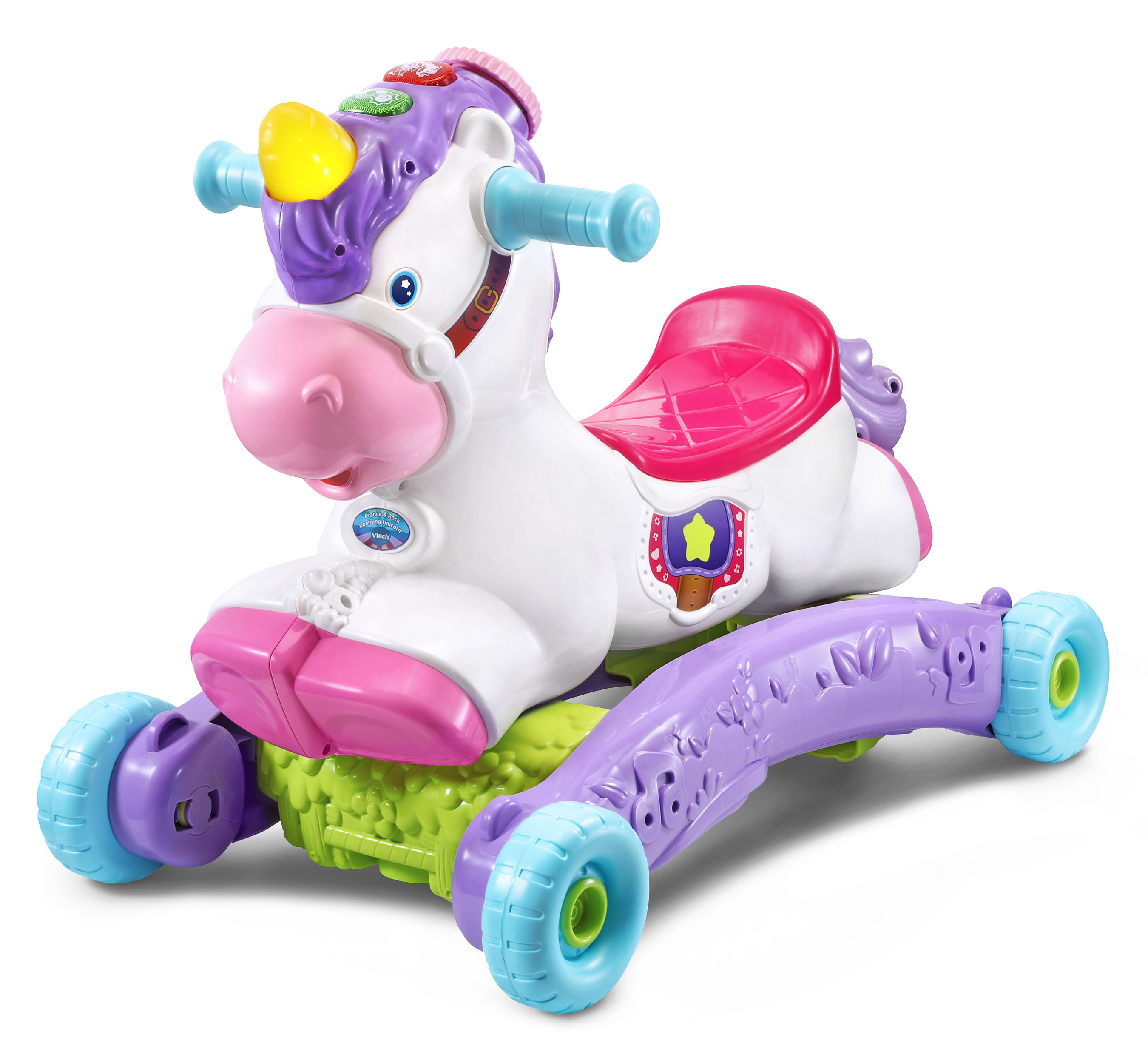 VTech® announces the availability of new infant, toddler and preschool toys, including the Prance & Rock Learning Unicorn™.