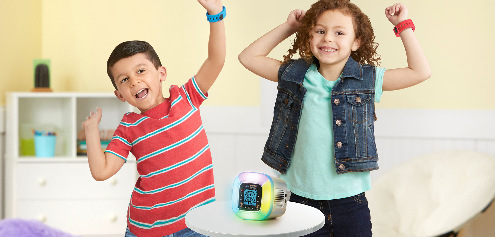 Kids enjoying the VTech® Kidi Star Dance™