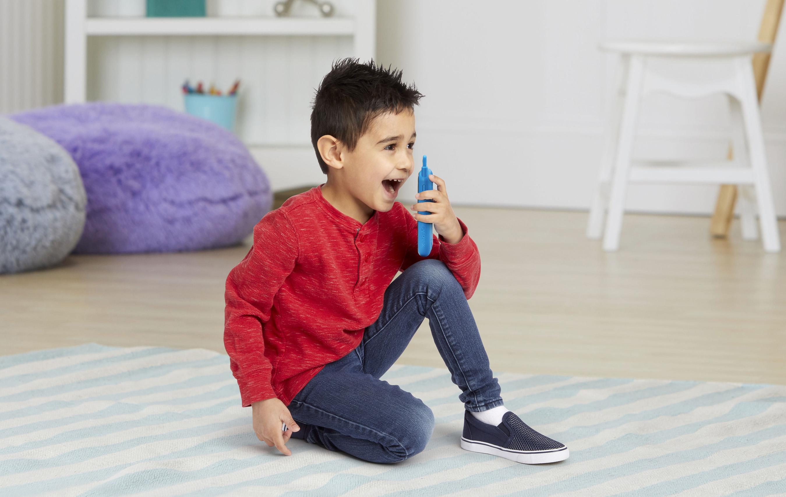 New KidiGo™ Walkie Talkies join VTech®'s popular Kidi line of electronic toys.