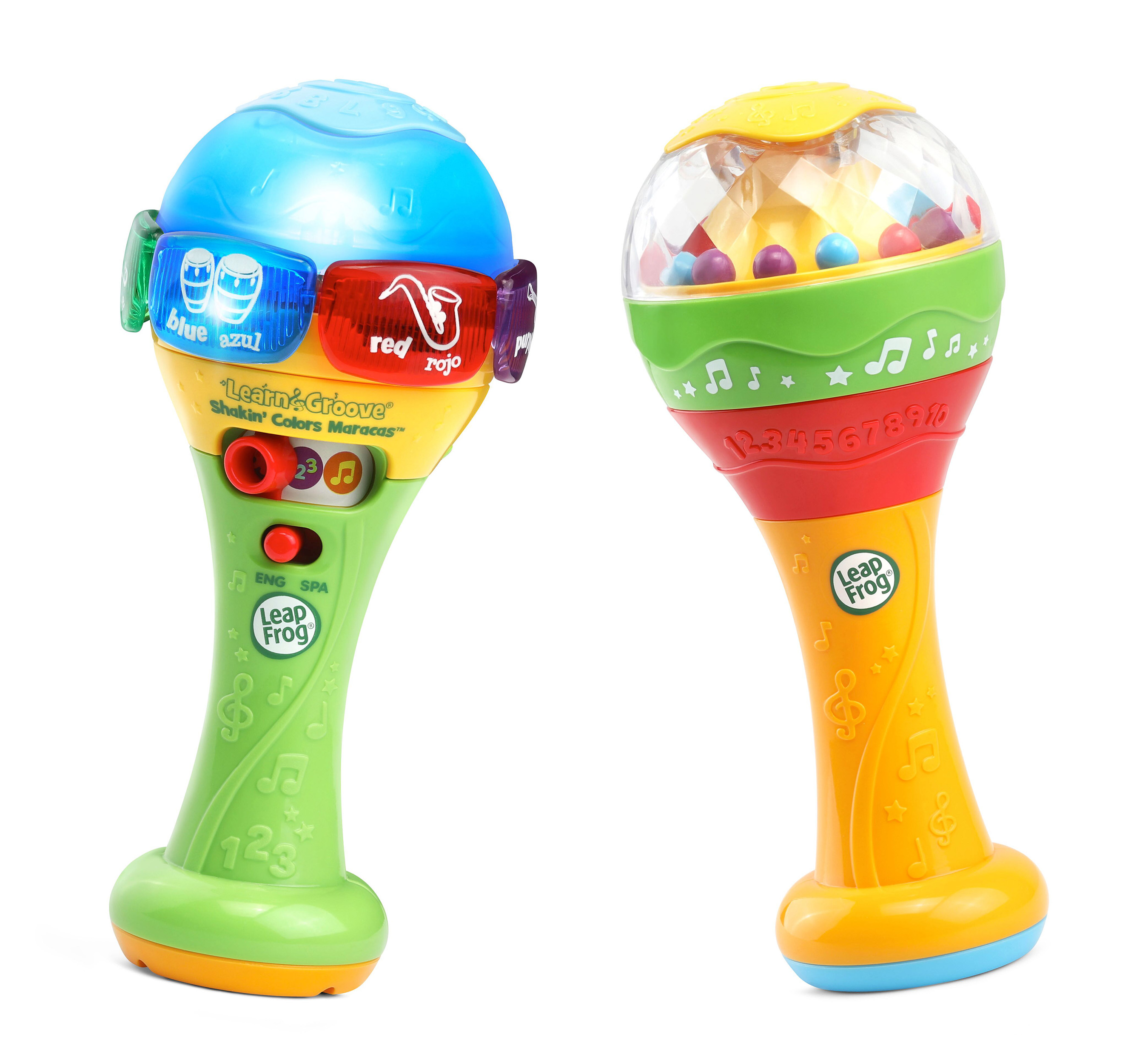 LeapFrog® expands its infant and preschool collection with new learning toys, such as the LeapFrog® Learn & Groove® Shakin' Colors Maracas™.