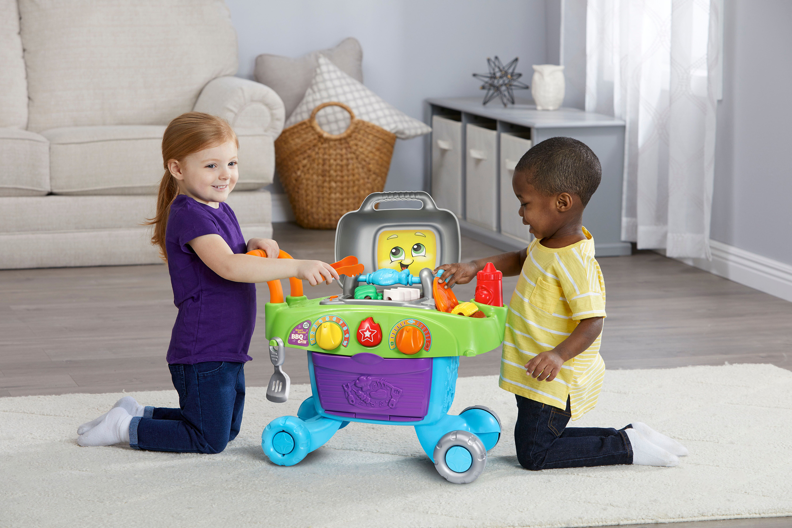 LeapFrog® expands infant and preschool collection with new learning toys, such as the Smart Sizzlin' BBQ Grill™.