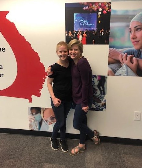 """My twin sister Alyssa has been my primary caregiver throughout this experience. The funds we received from LLS's Urgent Need program helped us pay for a babysitter for her children so she could accompany me to a clinical trial that could potentially save my life."" - Brooklyn Aaron, Cancer Patient & LLS Volunteer"