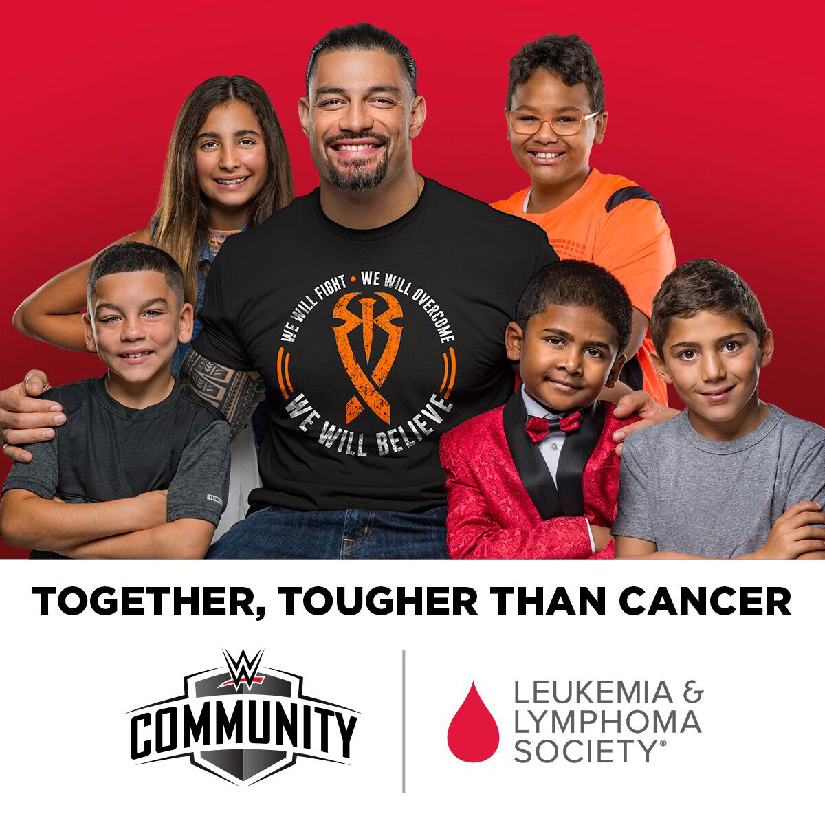 """""""I know how tough it is to deal with cancer and I want to show people that even someone like me can be knocked down, but with the right treatment and support, we can get back up to fight another day."""" – Roman Reigns, WWE Superstar and chronic myeloid leukemia survivor"""