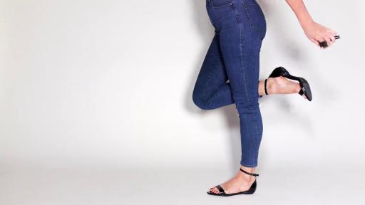 Pashion Footwear changes from a heel to a flat in a matter of seconds.