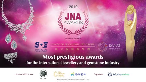 Headline Partners Chow Tai Fook, Shanghai Diamond Exchange, DANAT together with Honoured Partners KGK Group, China Gems & Jade Exchange and Guangdong Land Holdings Limited support the JNA Awards to recognise excellence and innovations.