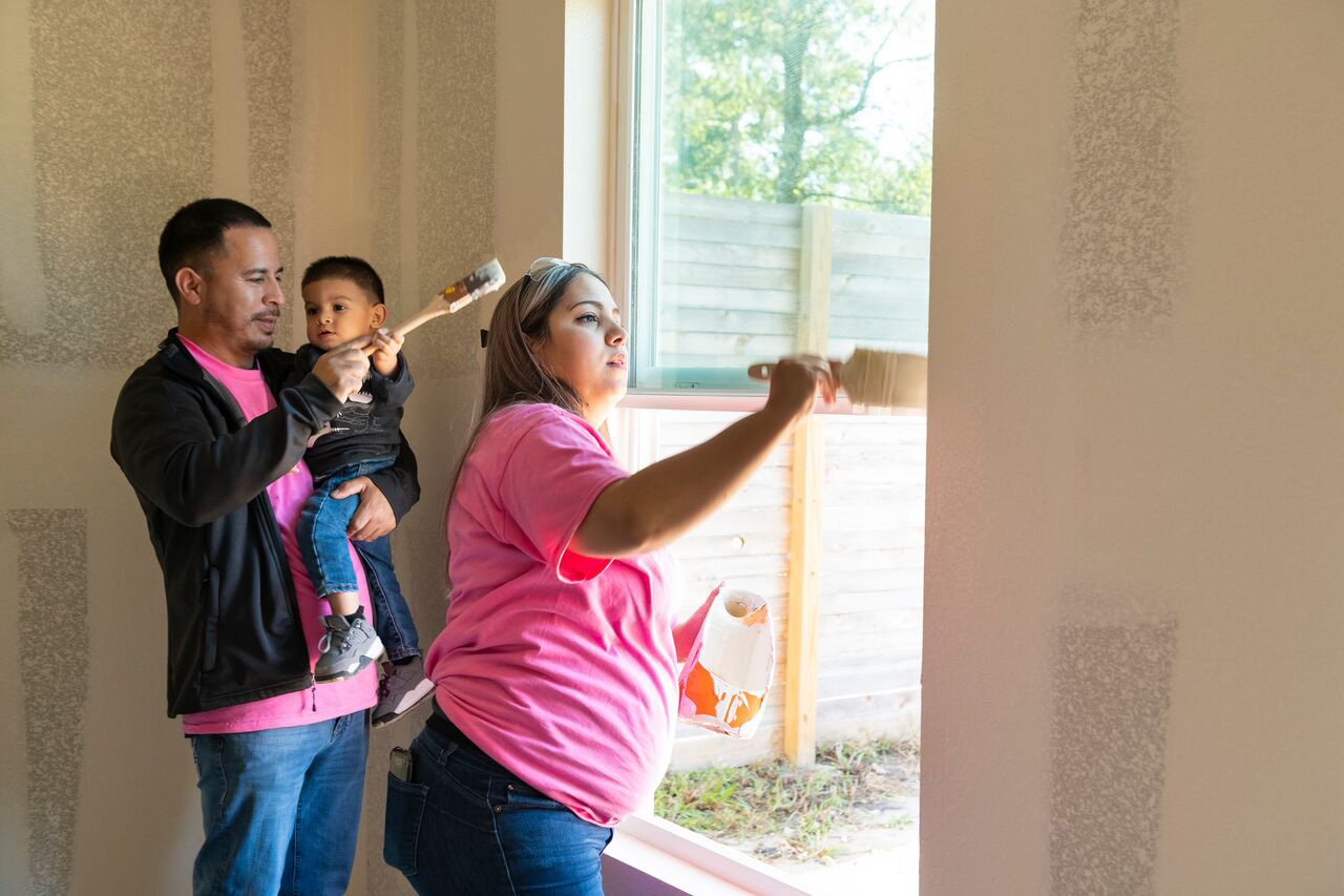 Joselyn Casas, her husband, and son proudly paying it forward by helping First Response™ and Habitat for Humanity build a new home for another family in need.