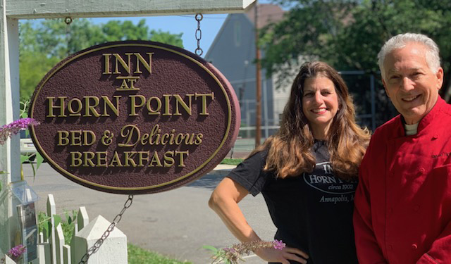 Cory and Carol Bonney, the owners and resident operators of the Inn at Horn Point, have received a $2,000 grant to purchase resources to help increase COVID safety and compliance measures.