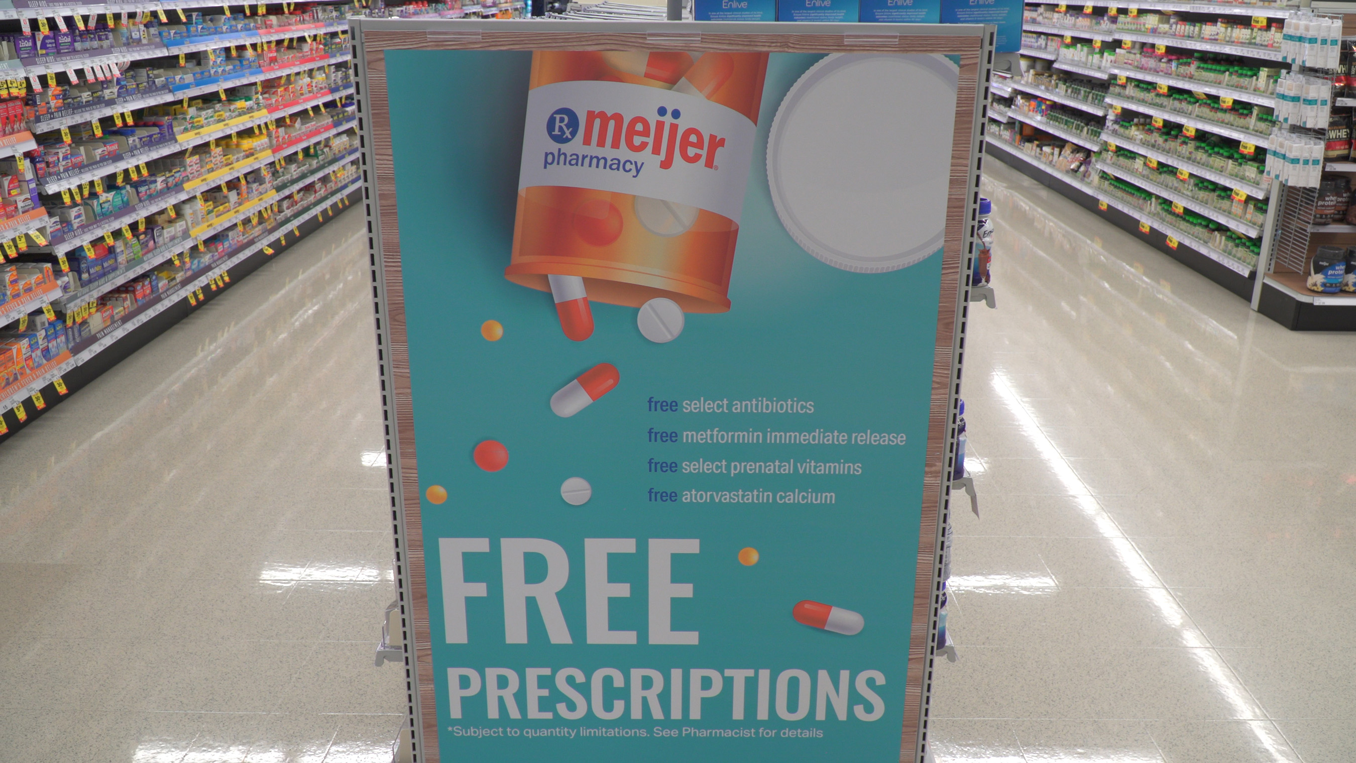 Meijer established the Free Prescription Drug Program to help lower healthcare costs for families by focusing on antibiotic medications most often filled for children. Through the years, as high costs of prescription drugs continued to rise, the program added other medications as well.