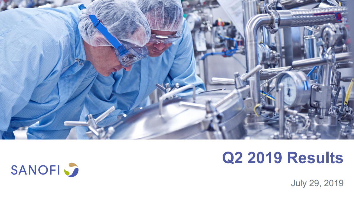 Sanofi 2019 Q2 Earnings Results Presentation
