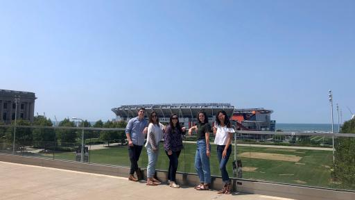 The interns caught a view of Cleveland's lakefront and Home of the Future Super Bowl Champions after concluding their MultiVu Learning Week.