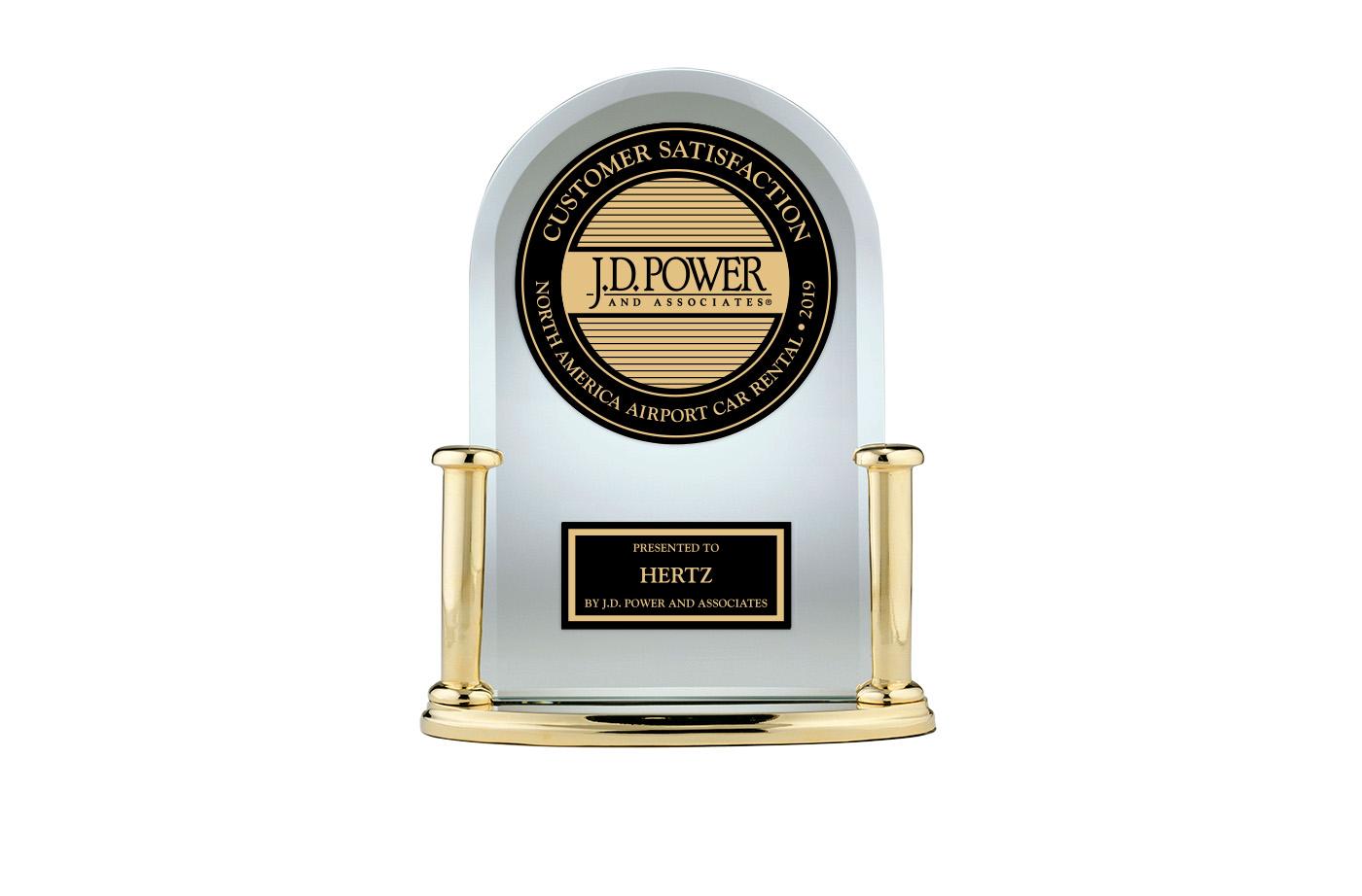 Hertz J.D. Power 2019 Customer Satisfaction Trophy