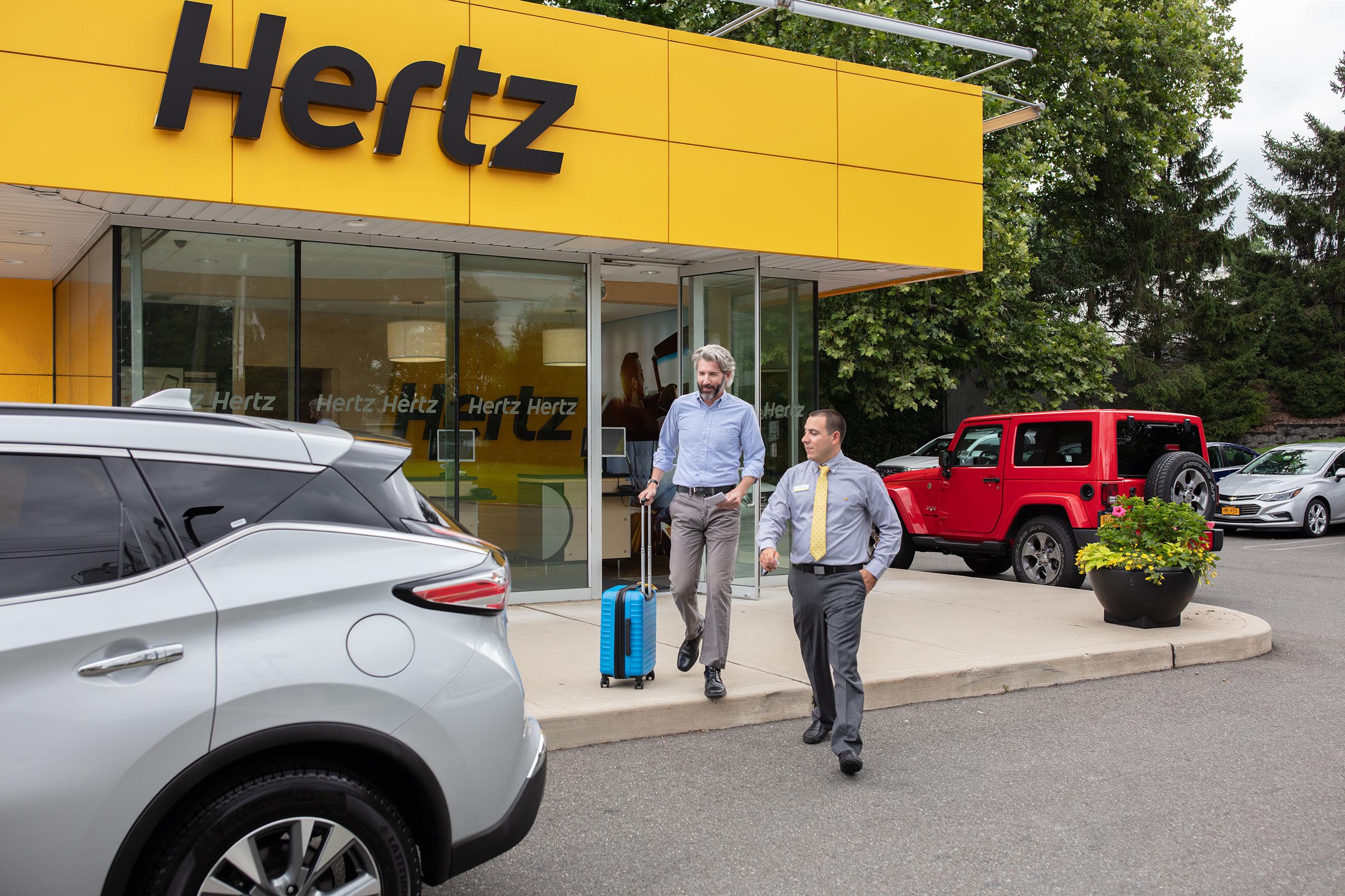 Hertz Location Exterior