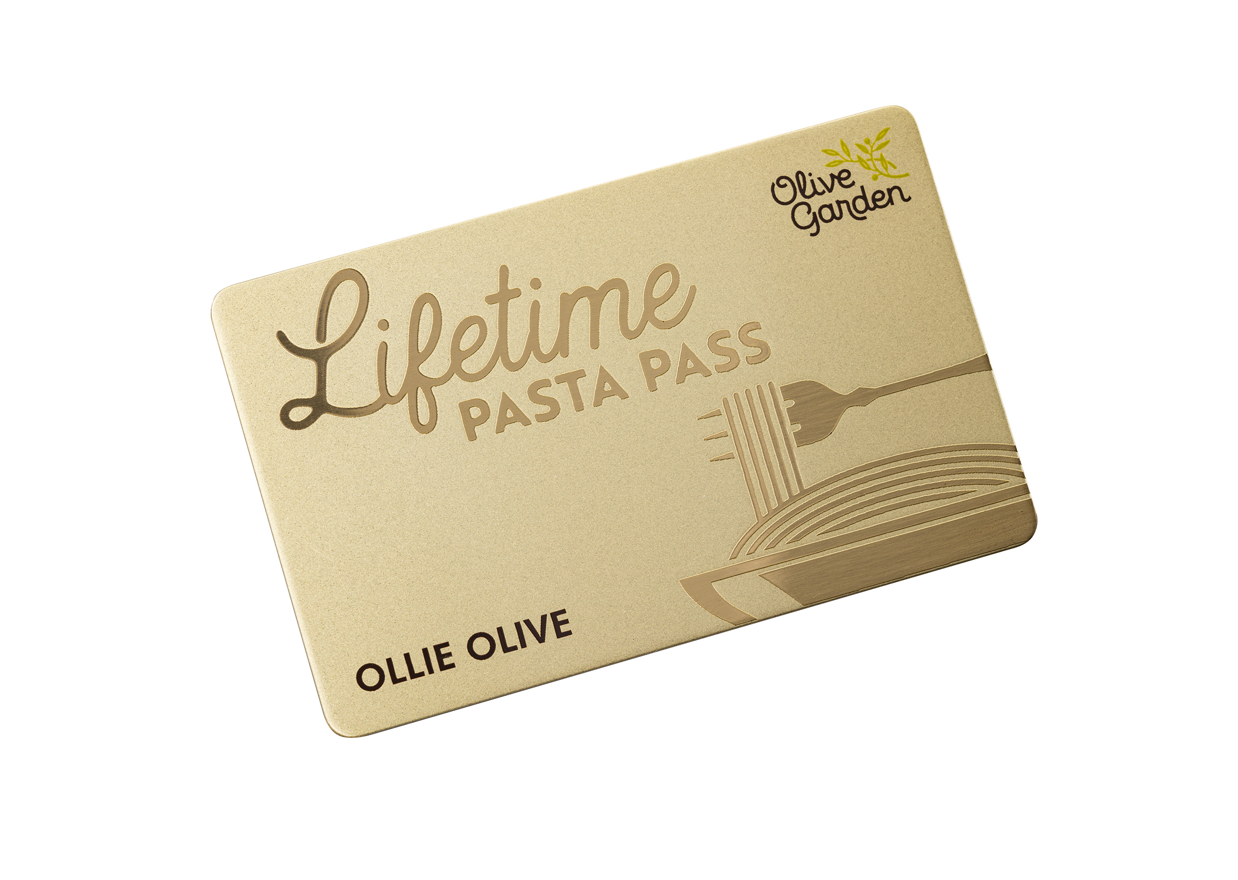 The first 50 guests to complete their transaction and opt-in for an Olive Garden Lifetime Pasta Pass can upgrade for an additional $400 ($500 total, plus tax).