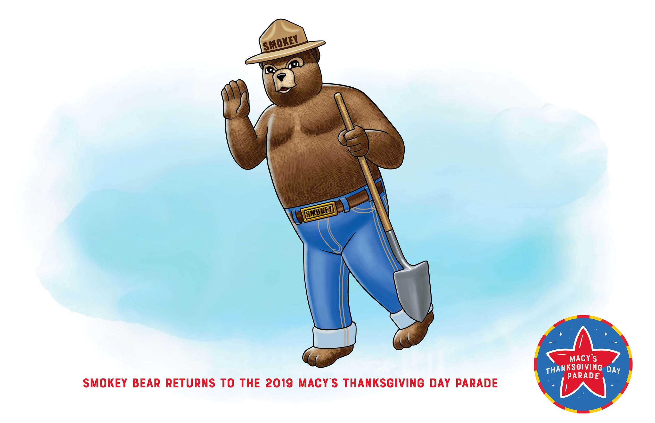 Smokey Bear returns to the 2019 Macy's Thanksgiving Day Parade