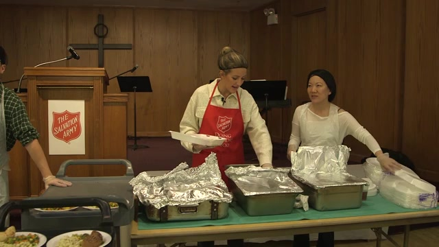 B-roll from Ellie Goulding's Visit to The Salvation Army Temple Corps Soup Kitchen