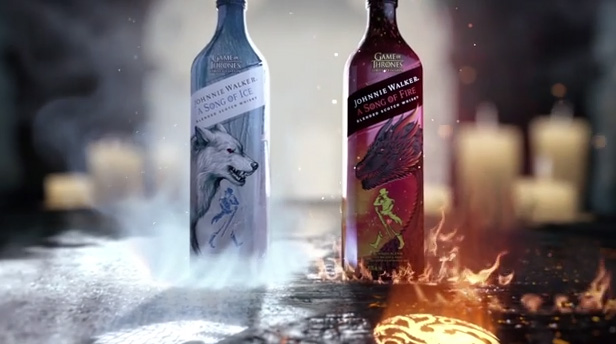 Johnnie Walker A Song of Ice and A Song of Fire are inspired by House Stark and House Targaryen in Game of Thrones