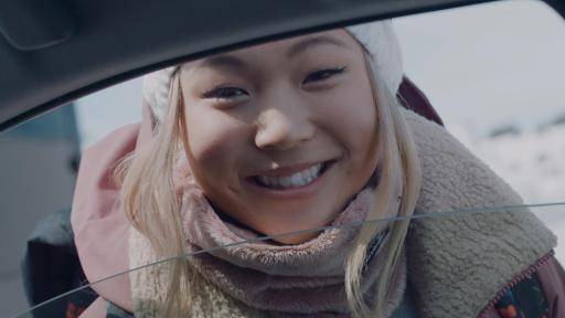 "Olympic gold medalist and Team Toyota athlete Chloe Kim appears in Toyota's new 2020 Prius ad, ""To The Top."""