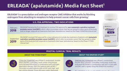 ERLEADA Media Fact Sheet