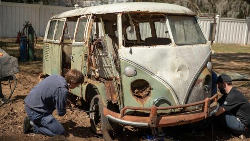1966 Volkswagen Deluxe Station Wagon Extraction. Photo credit: Historic Vehicle Association