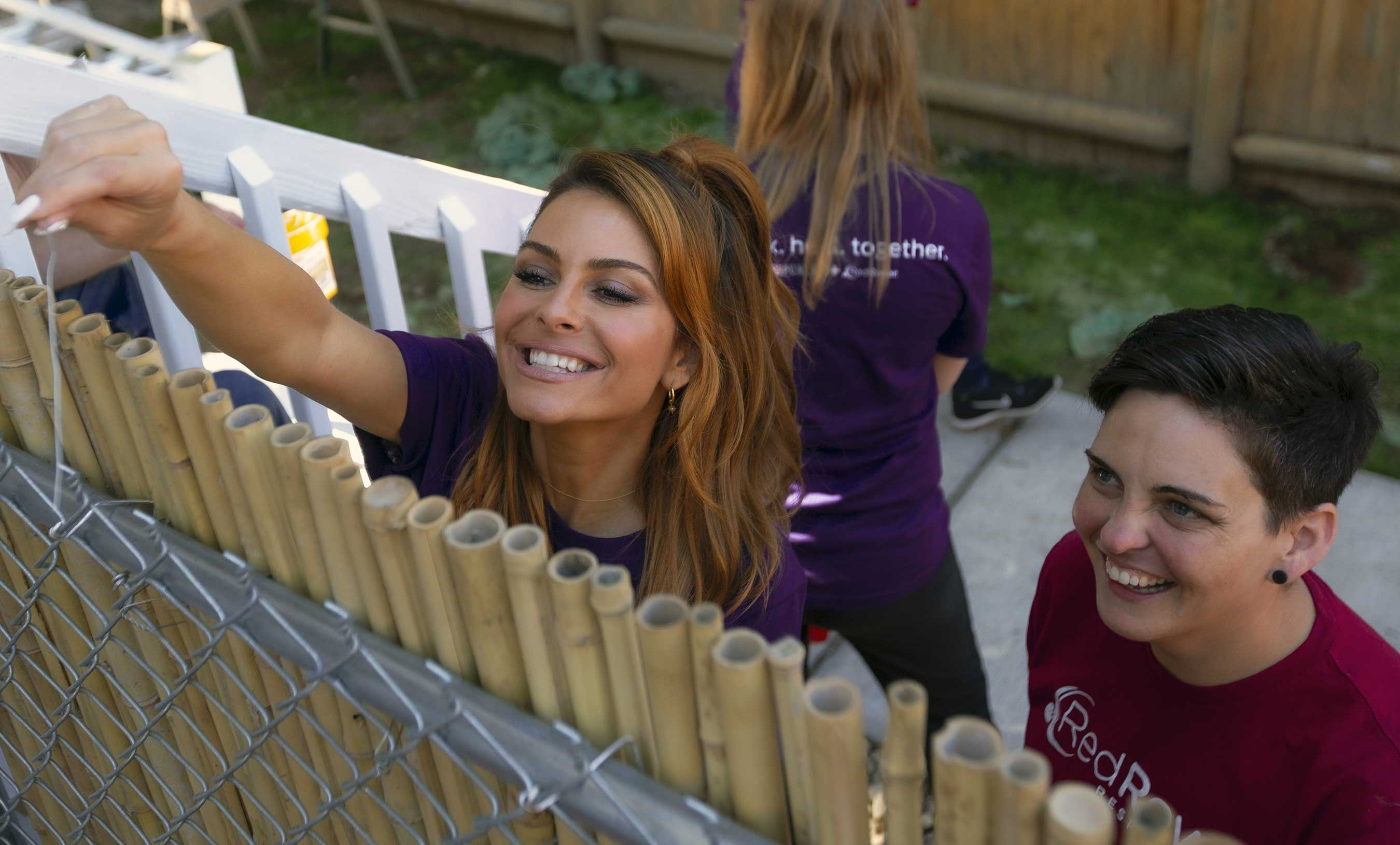 Emmy award-winning journalist and pet enthusiast Maria Menounos recently helped Purina and Red Rover complete a shelter renovation in Auburn, ME, making it the state's first pet-friendly domestic violence shelter.