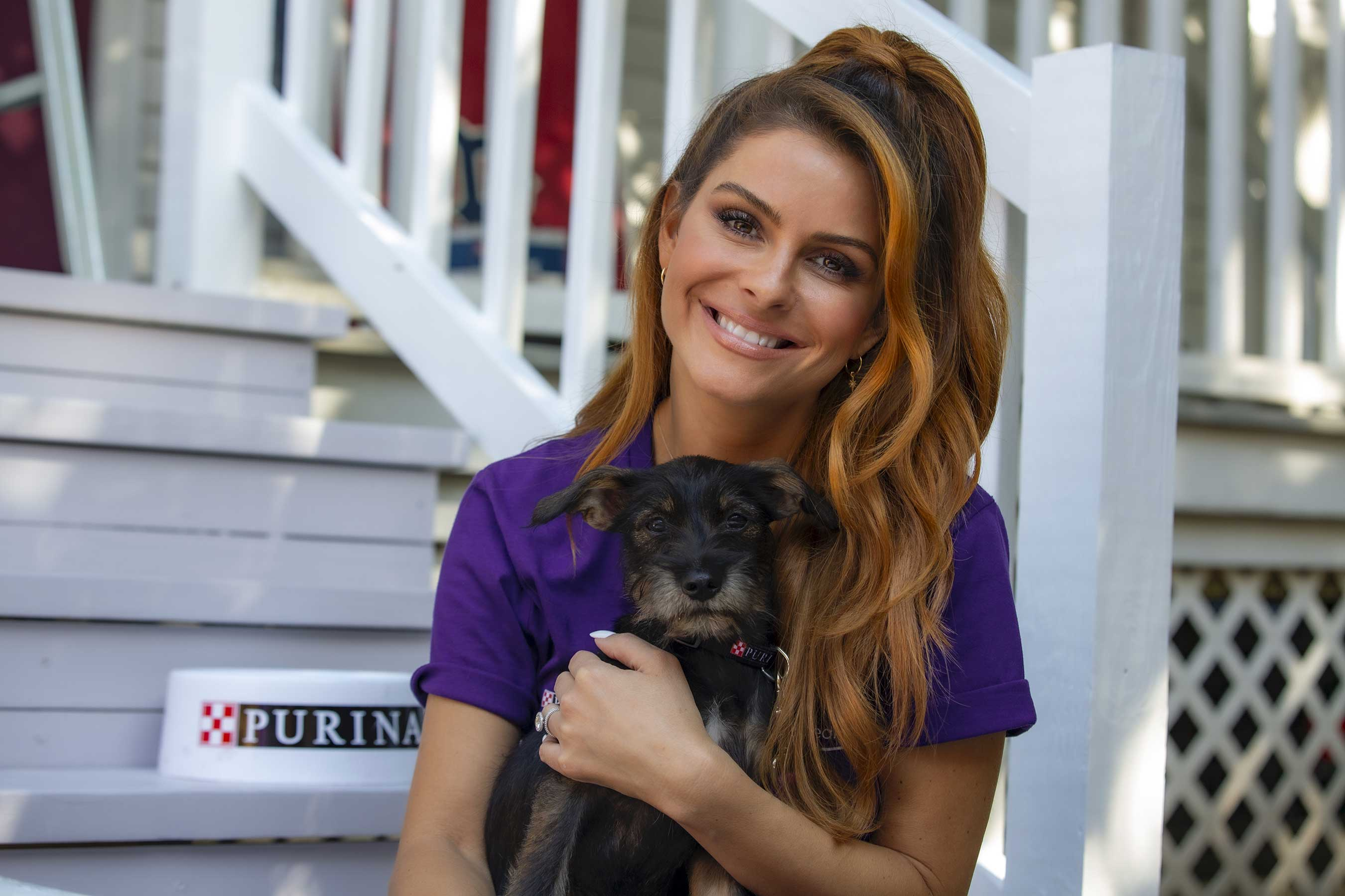 """Nobody should have to choose between their own safety and the safety of their pets,"" said Maria Menounos. ""That's why I am humbled to join the Purple Leash Project and lend my voice for those who are suffering in silence with their pets."""