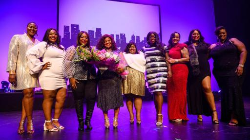 2019 Finding Ashley Stewart finalists with winner, Addlia Edwards