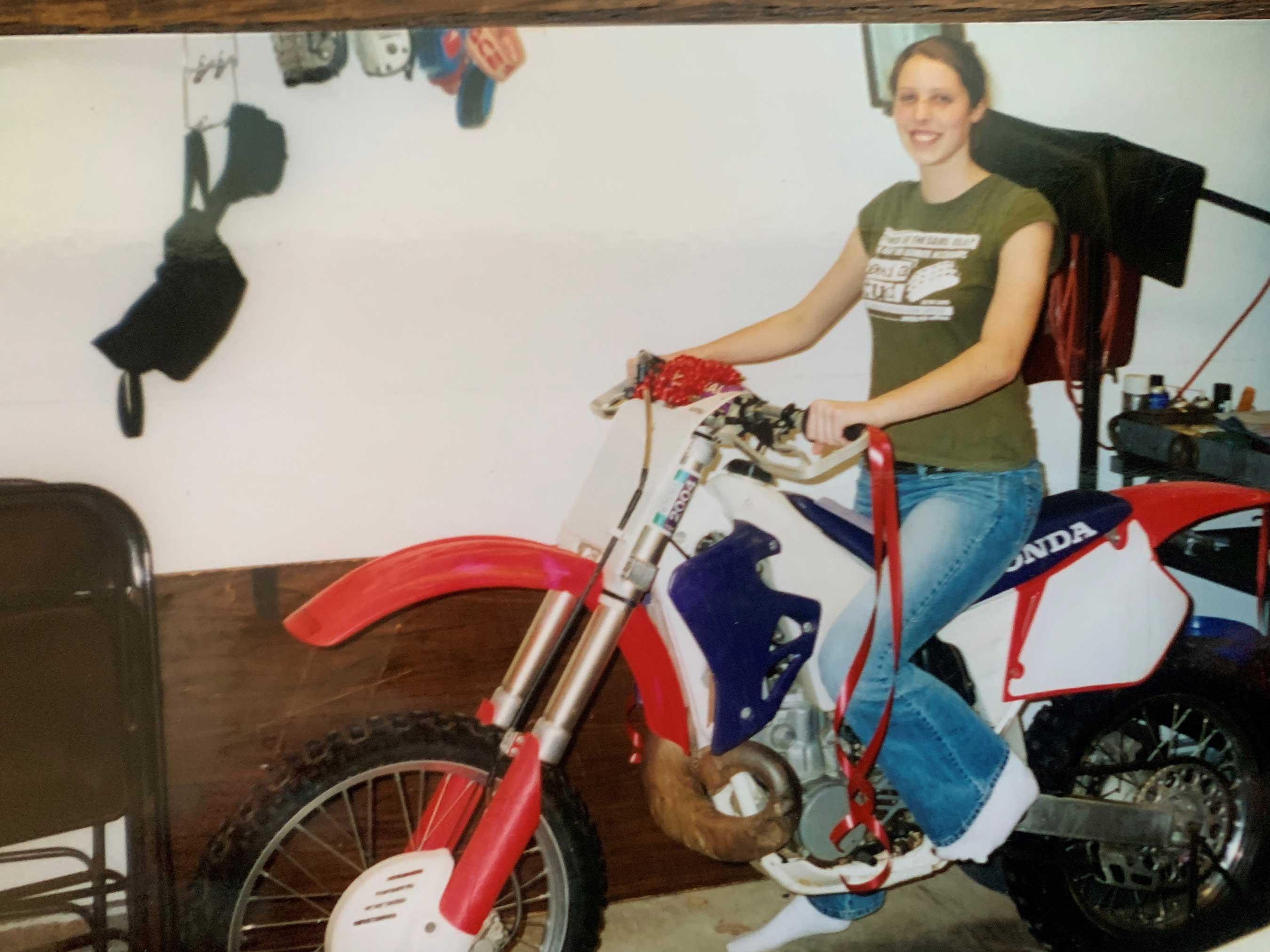 Sara On Her Dirt Bike