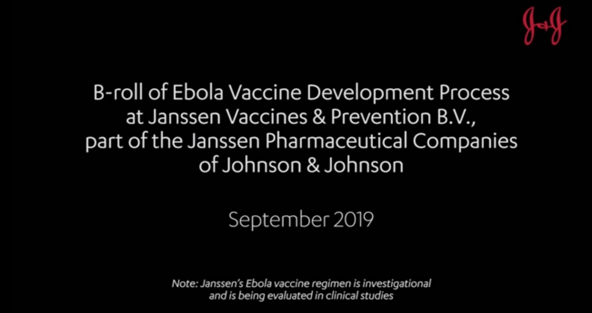 J&J Ebola Vaccine B-Roll Footage