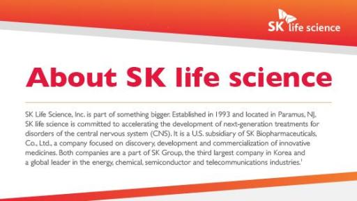 SK life science Fact Sheet