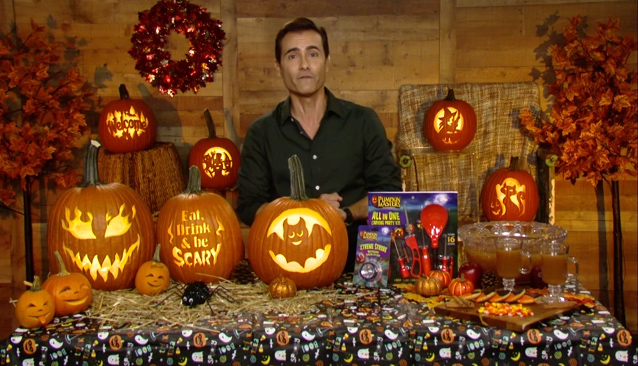 """Martin Amado, designer and lifestyle expert, talks about how to """"carve out"""" quality time this Halloween. In this video, he demonstrates how the whole family can create amazing pumpkin designs and inspire their """"inner artist,"""" using tools and patterns from Pumpkin Masters."""