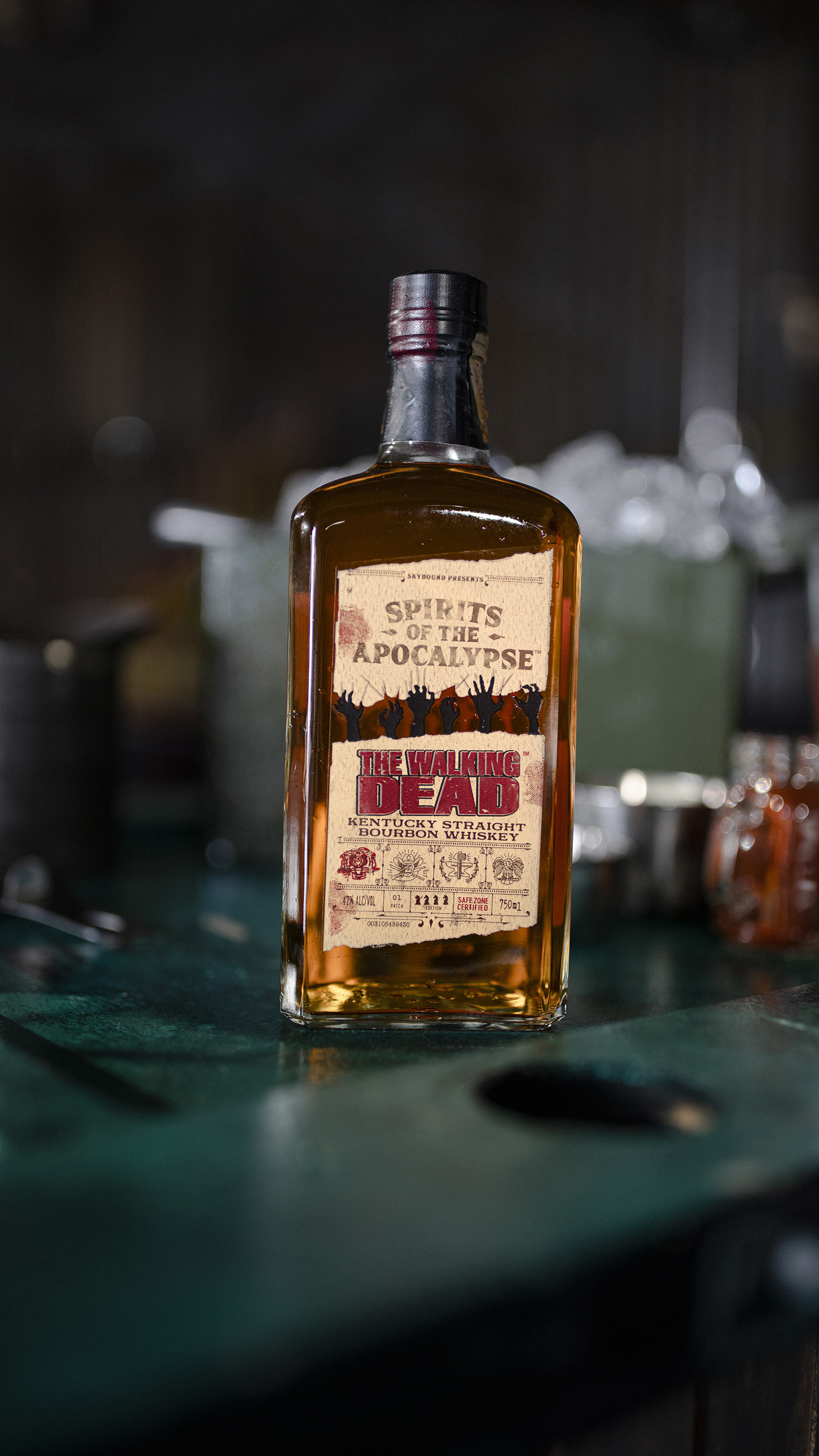 The Walking Dead Kentucky Straight Bourbon Whiskey is available beginning in October for a limited time only at select stores nationwide.