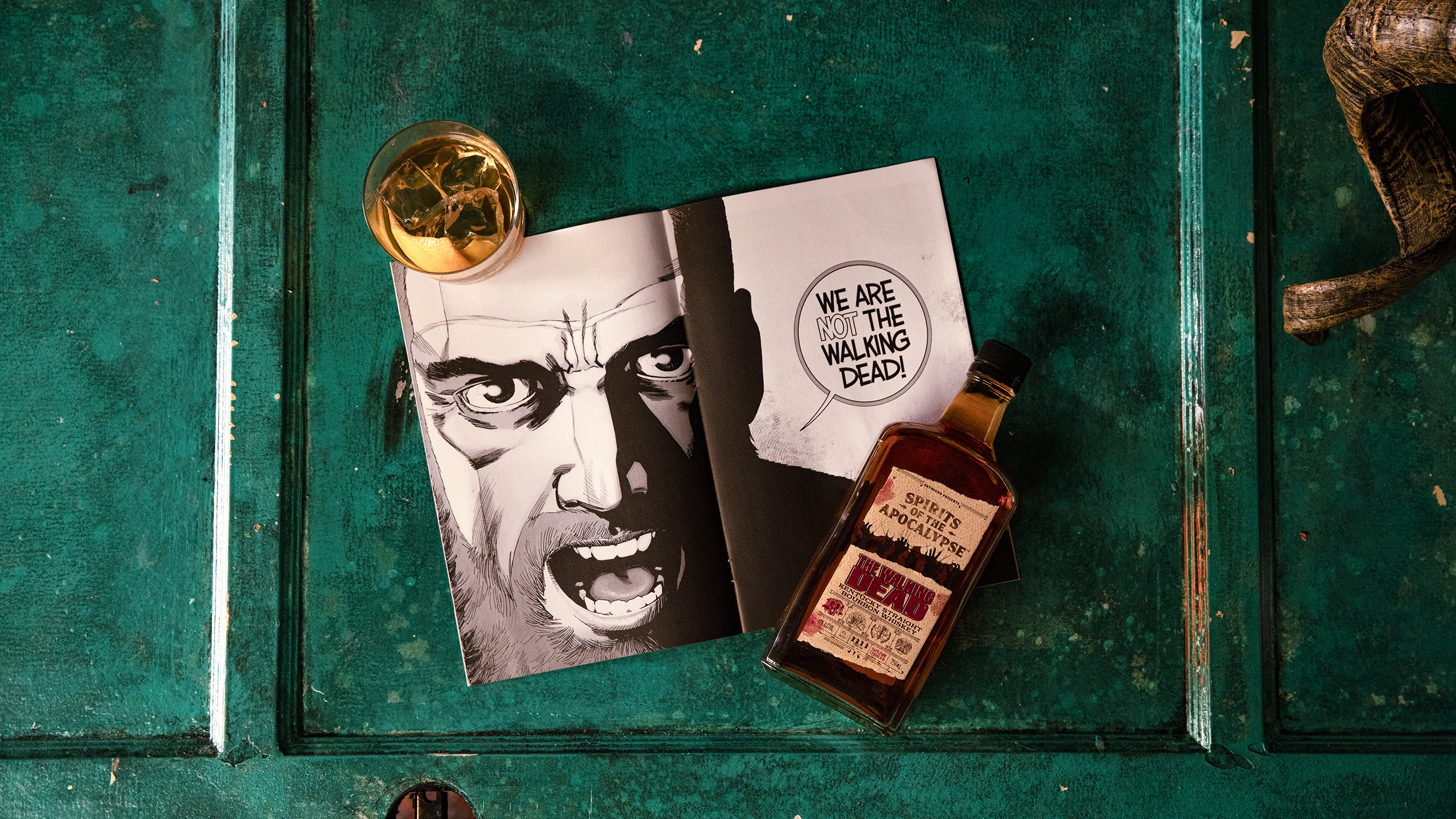 Old Man Rick, a featured signature cocktail with the limited edition bottle of The Walking Dead Kentucky Straight Bourbon Whiskey and #193.