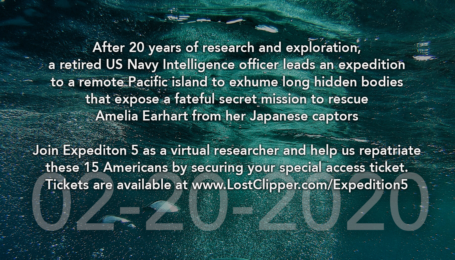 Unique online opportunity to participate in the expedition to uncover the truth.