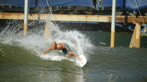 Breitling Surfers Squad Member Kelly Slater at his Surf Ranch in Leemore, California.