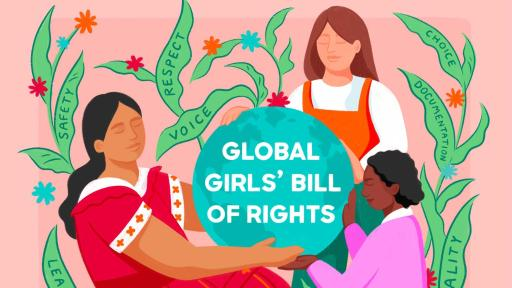 1,000+ girls all over the world have submitted their most important rights for the #GirlsBillofRights in advance of this year's International Day of the Girl. (Illustrator: Louisa Cannell)