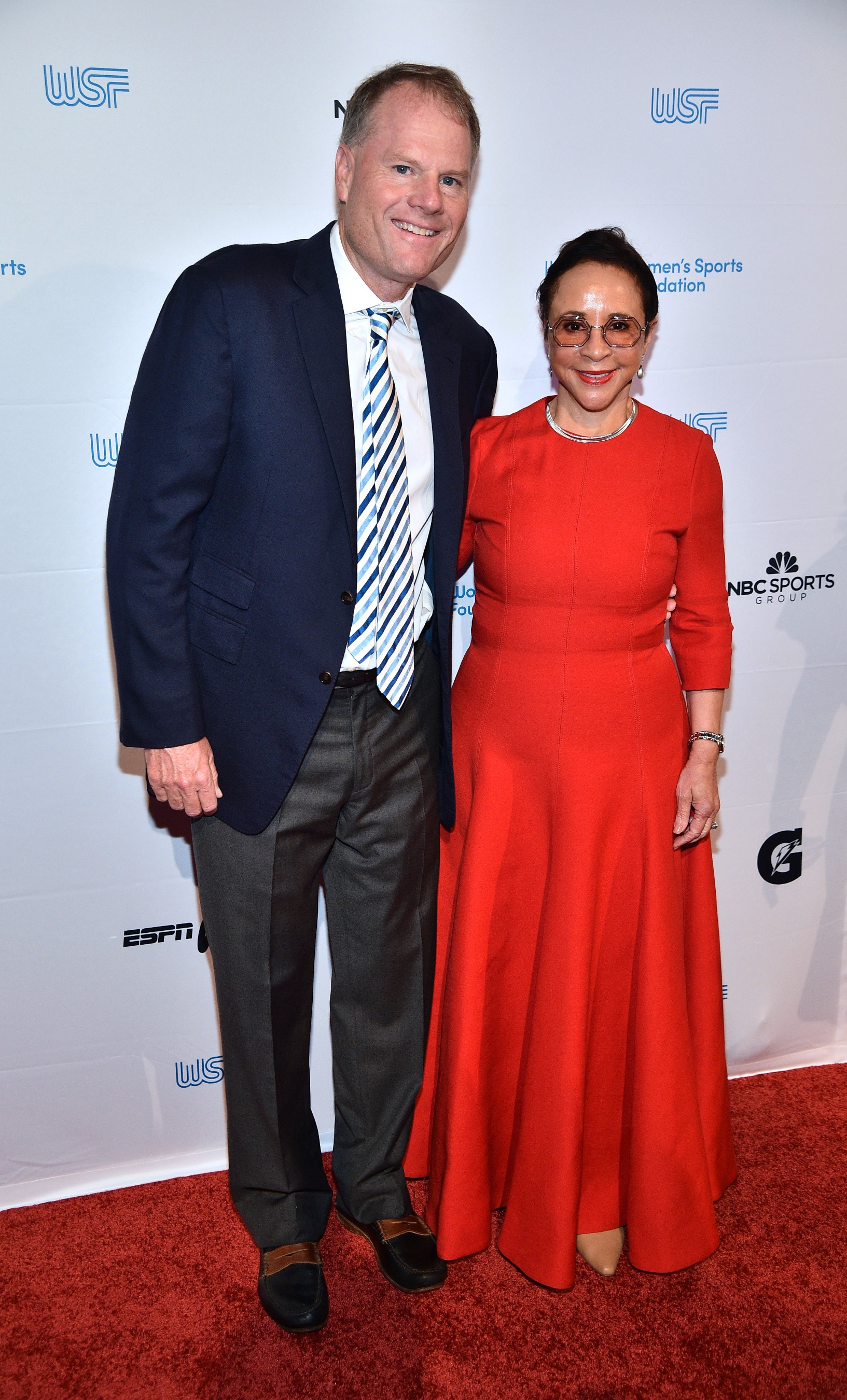 John Burke and Sheila C. Johnson were honored by the Women's Sports Foundation at the 40th Annual Salute to Women in Sports in New York City. (Getty Images for the Women's Sports Foundation)