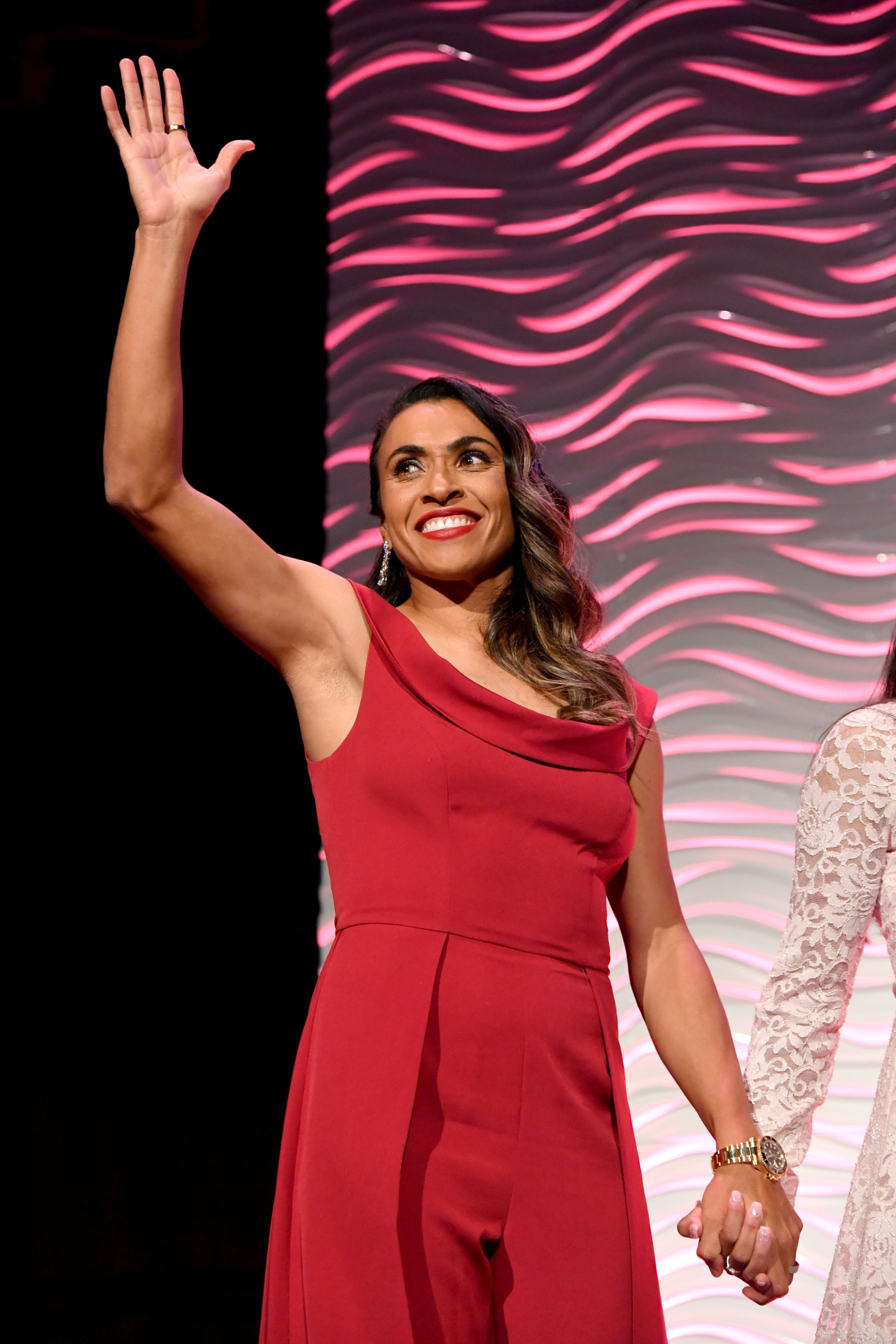 Marta Vieira da Silva was honored by the Women's Sports Foundation at the 40th Annual Salute to Women in Sports in New York City. (Getty Images for the Women's Sports Foundation)
