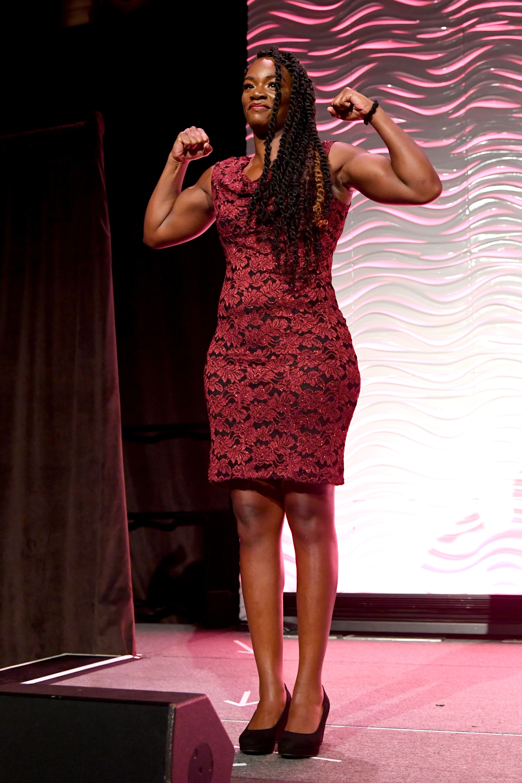 Claressa Shields was named the 2019 Individual Sportswoman of the Year by the Women's Sports Foundation at the 40th Annual Salute to Women in Sports. (Getty Images for the Women's Sports Foundation)
