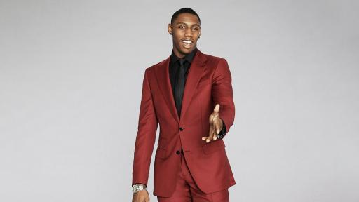 RJ Barrett in Solid Red Suit