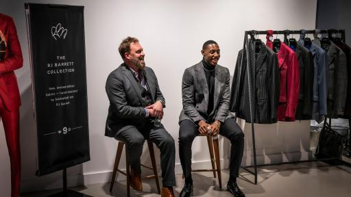 RJ revealed his new line at INDOCHINO's flagship New York showroom at 488 Madison Avenue on October 21.