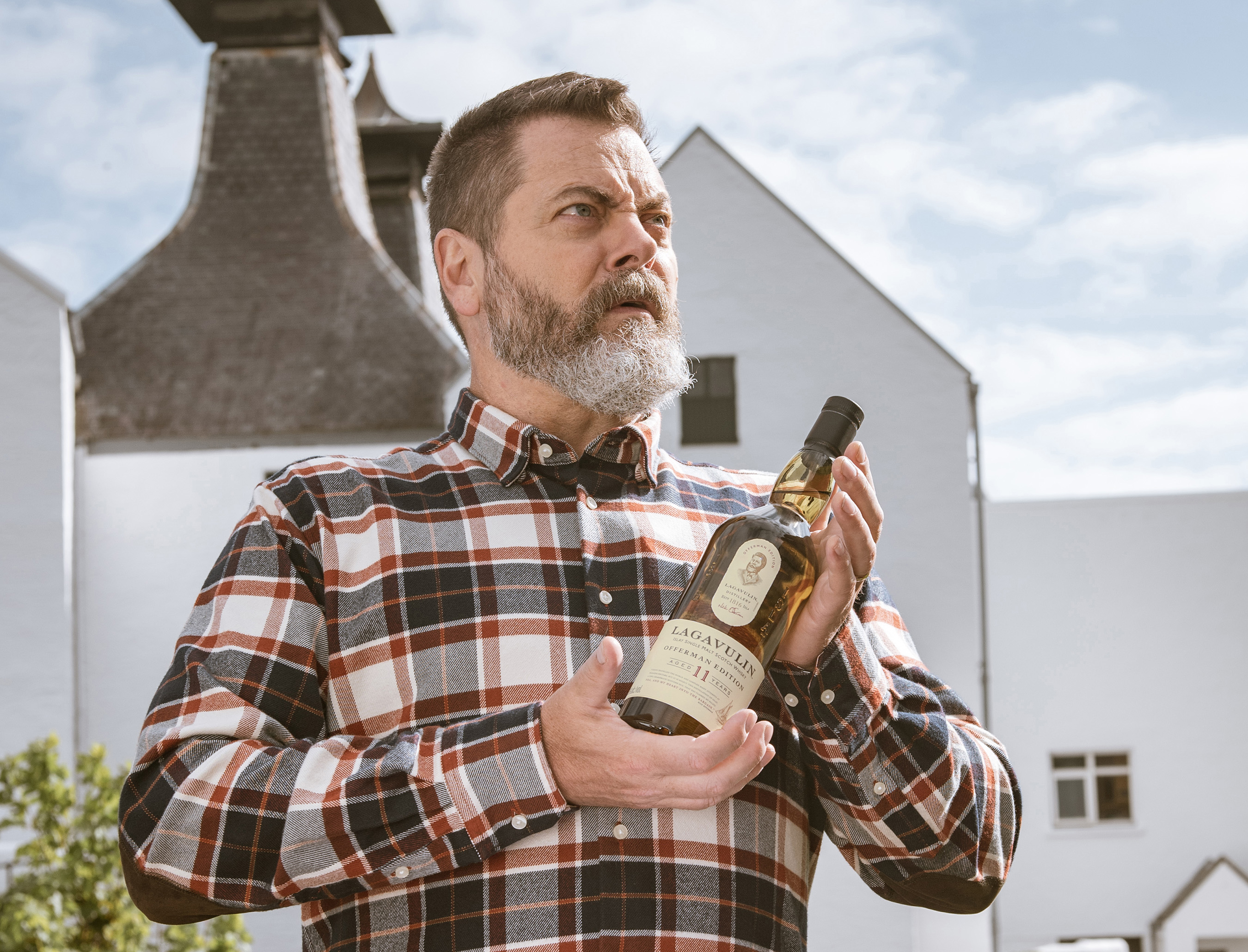 Nick Offerman's ongoing partnership with Lagavulin began in 2014 with the creation of the inaugural My Tales of Whisky content series. Now, Lagavulin and Offerman are proud to share their newest video series celebrating the limited edition bottling of Lagavulin Offerman Edition Aged 11 Years. Photo credit: Ben Shakespeare Photography – Islay.