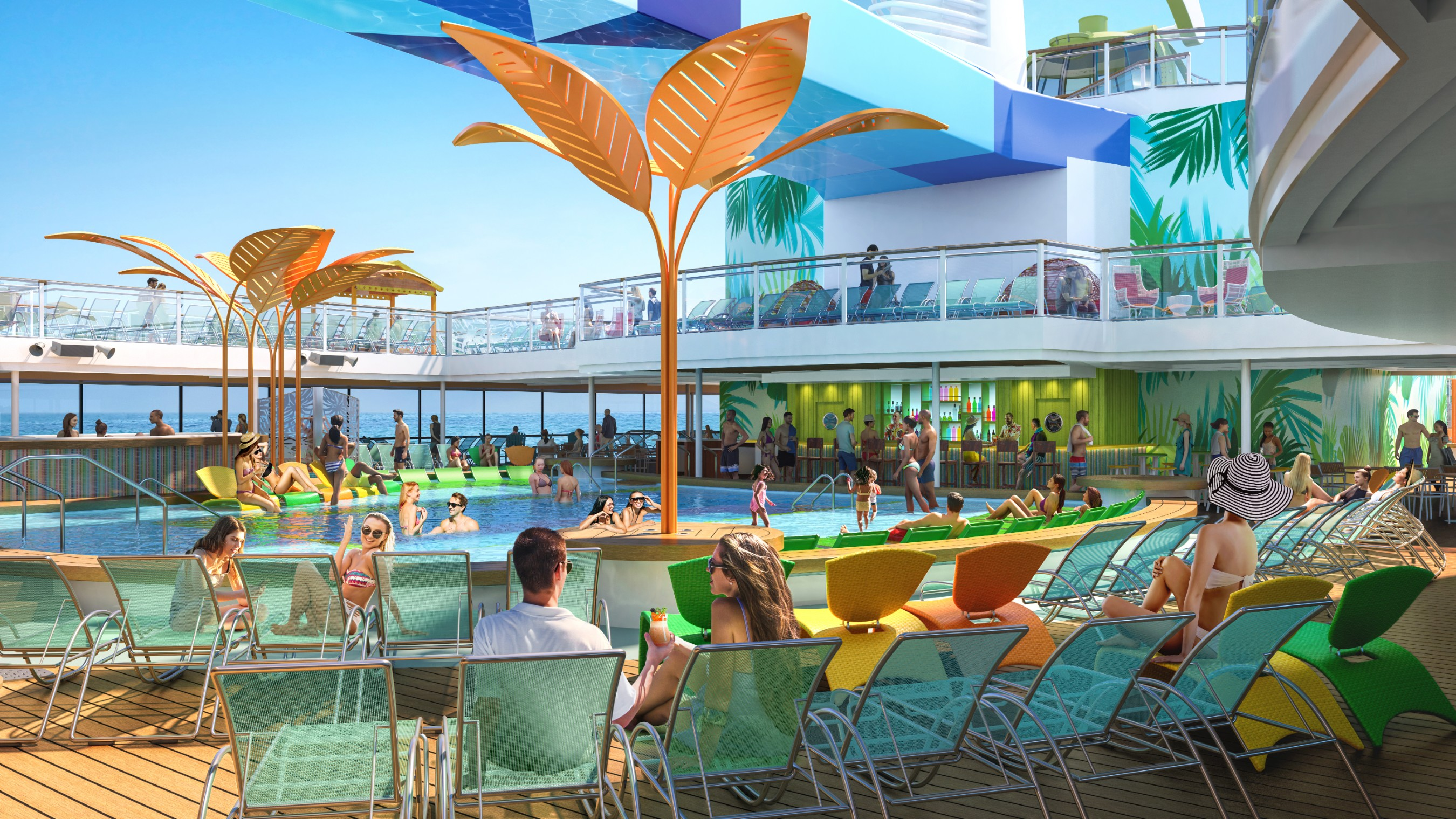 Royal Caribbean's new Odyssey of the Seas will be the first Quantum Ultra Class ship to feature two open-air, resort-style pools. Designed for downtime under the sun and stars, Odyssey will debut November 2020, cruising from Fort Lauderdale to the eastern, southern and western Caribbean. Beginning May 2021, Odyssey will sail from Rome to the idyllic Greek Isles.