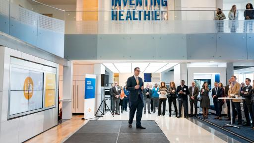 Glen Stettin, MD, Chief Innovation Officer, Express Scripts, explains how the newly updated Lab will help make health care simpler and more affordable in St. Louis on Tuesday, Nov. 12, 2019.