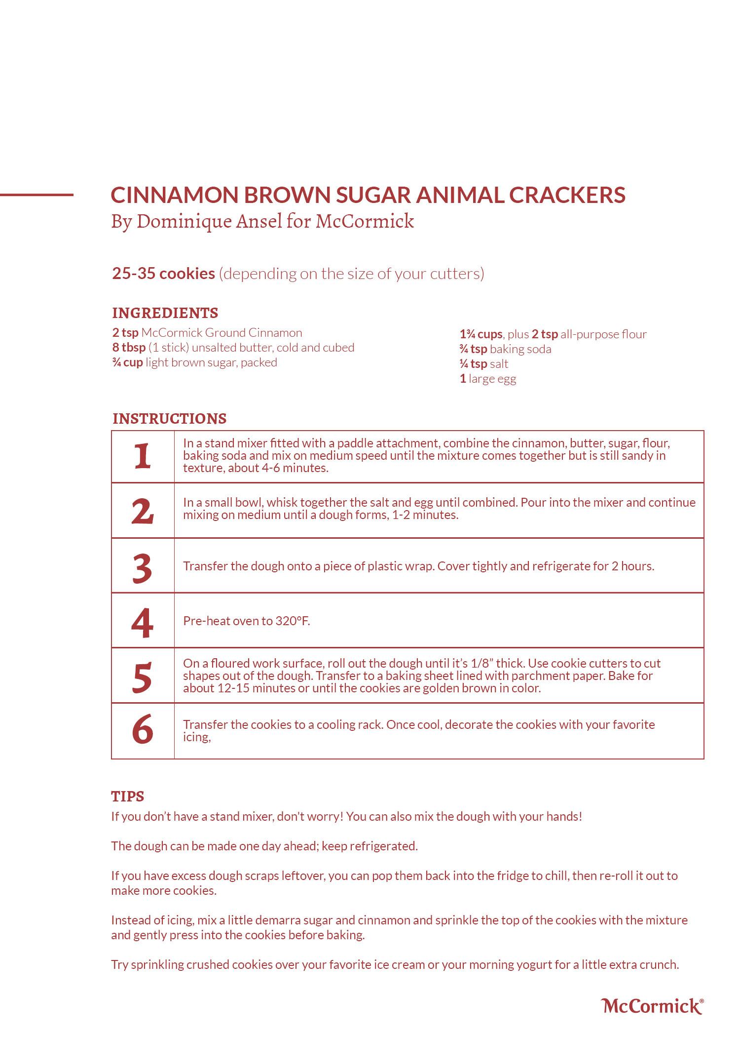 Cinnamon Brown Sugar Animal Crackers Recipe