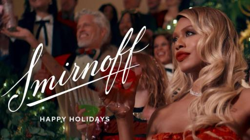 "Play Video: Smirnoff releases new holiday campaign with Laverne Cox to celebrate ""not so silent"" nights."