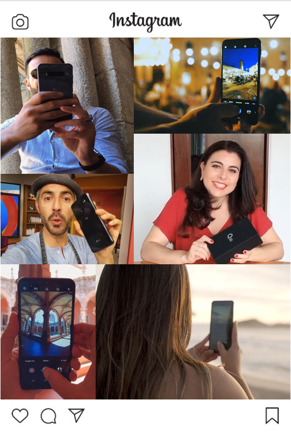 Creators with LG Mobile on Instagram