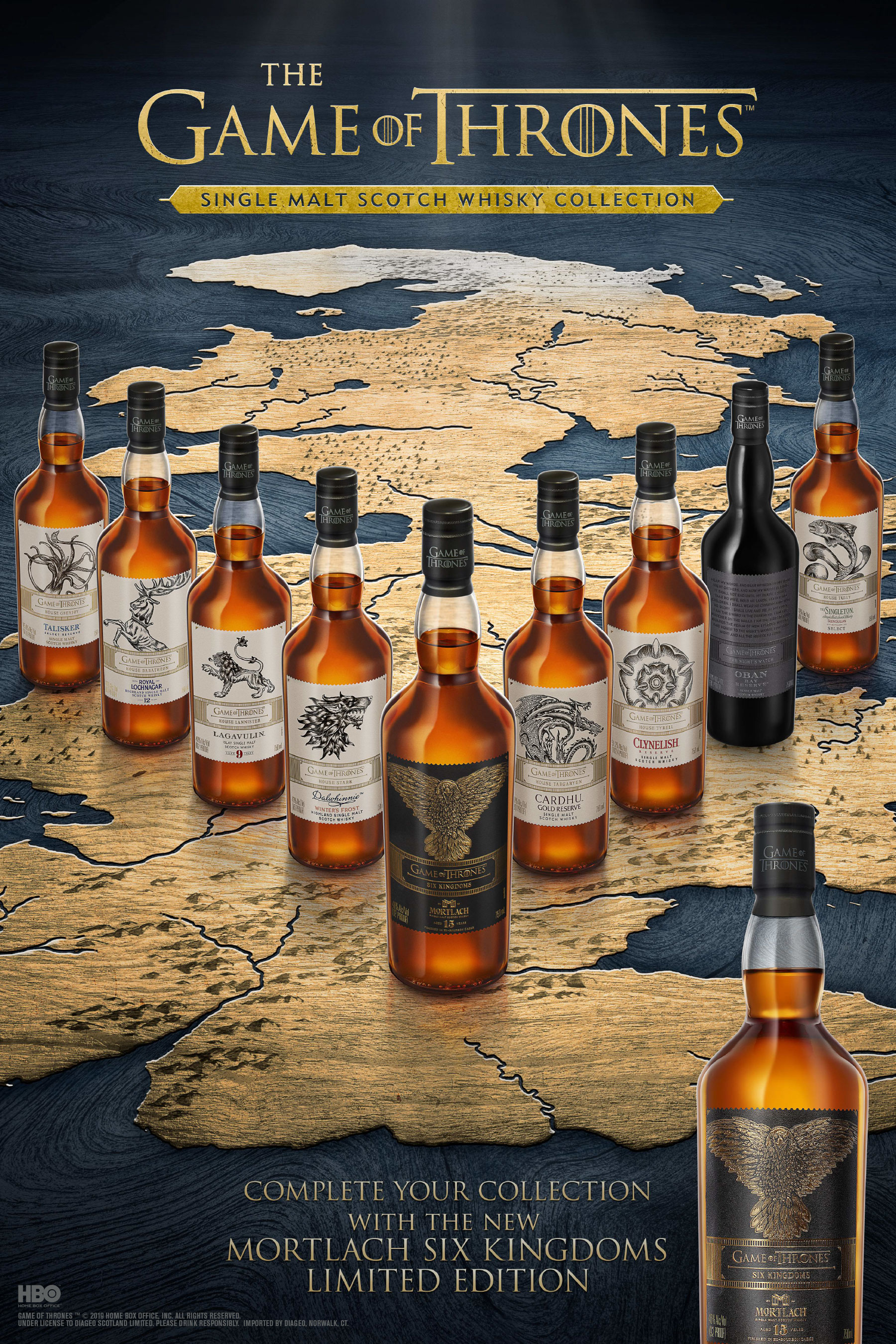 Complete Your Collection with the New Game of Thrones Six Kingdoms - Mortlach Aged 15 Years